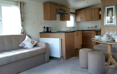 Internal shot of Luxury caravan